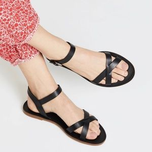 NIB Madewell Boardwalk Crisscross Sandals size 7